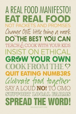 Real Food Manifesto